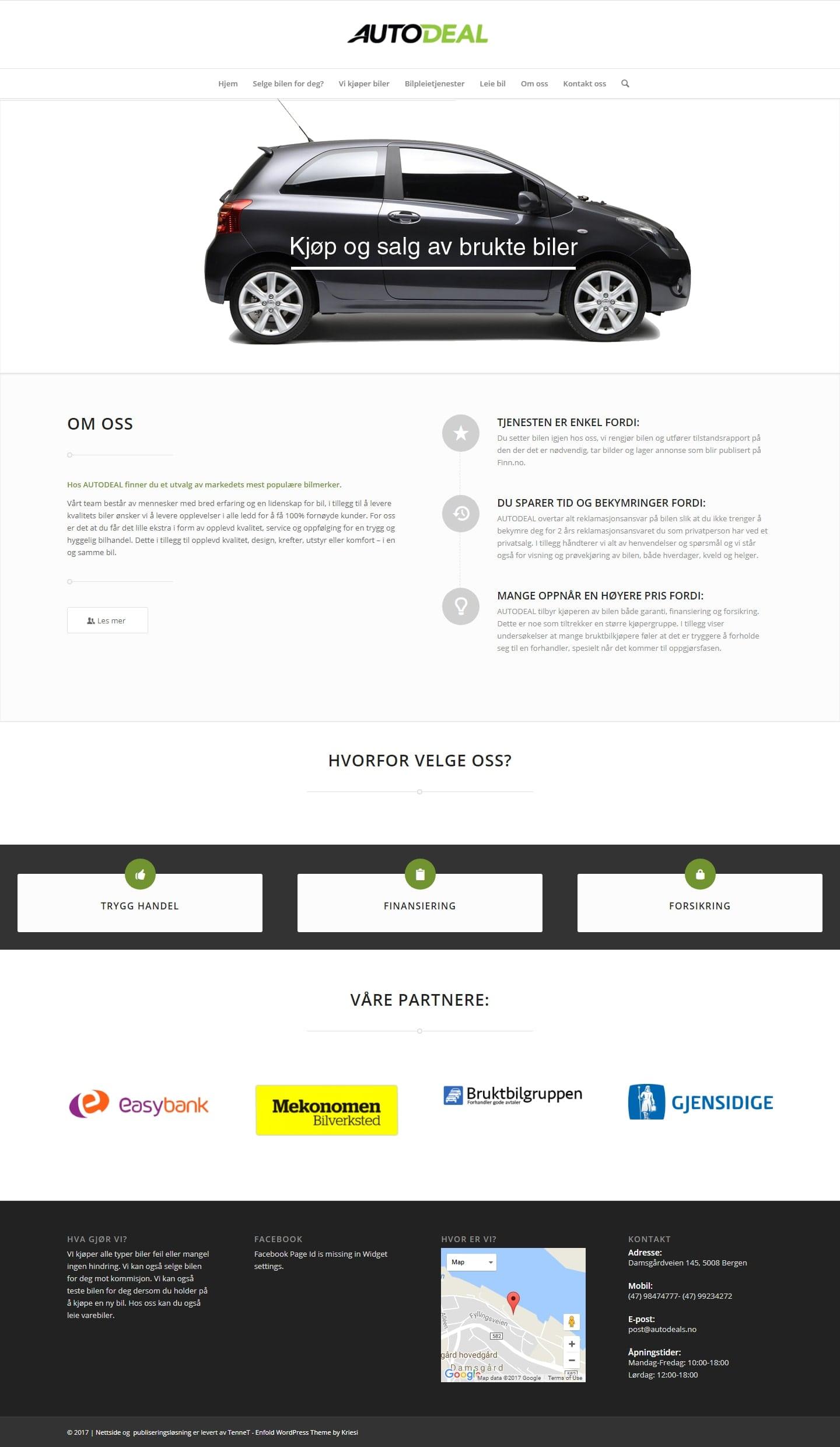nettside design eksempel